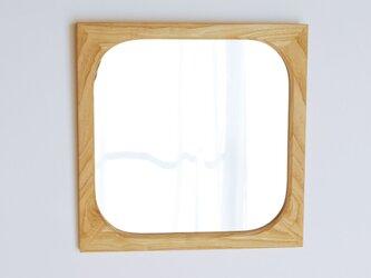木製 角丸 鏡 栗材1 ミラーの画像