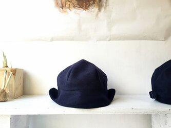 DEERCAP | WOOLFLANNEL NAVY 【M】の画像