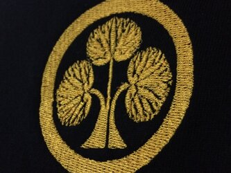 【黒M/糸=黄色】 戦国・幕末 家紋Tシャツ(刺繍) 「本多忠勝」の画像