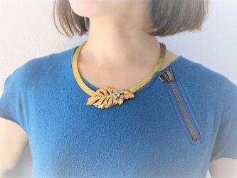 ヴィンテージネックレス リーフ vintage necklace leaf <NC-MSlf>の画像