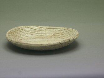 線紋楕円小皿の画像