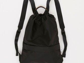 リモンタナイロン/きんちゃく型リュック「Twill/Knap」 (Black)の画像