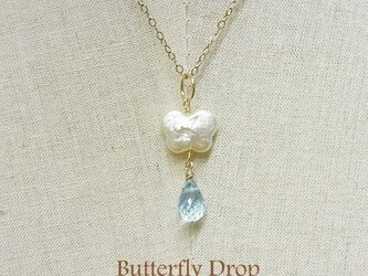 Butterfly Drop 14kgfネックレスチャームの画像