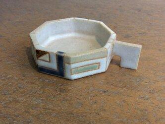 八角形取っ手付き豆皿a(№318)の画像