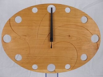 無垢の木の電波掛け時計 さくら 0003の画像
