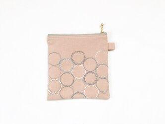 ご予約品(191116i)※ポーチ[花蕾]桜貝色の画像