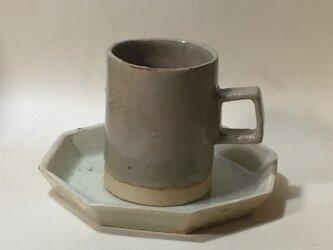 T001 灰釉コーヒーカップ&ソーサの画像