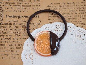 ショコラオレンジのヘアゴムの画像