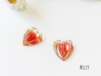 Vintage hearts REDの画像