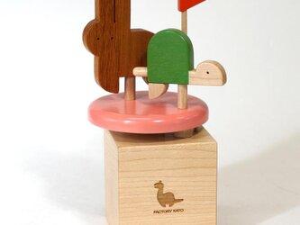 ミニオルゴール「ウサギとカメ」の画像
