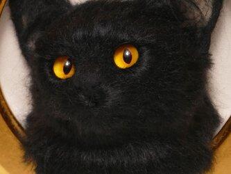 黒猫(額入り)の画像