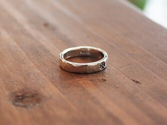 針突(ハジチ)指輪マンダマーナ(四弁花紋) rr-68の画像