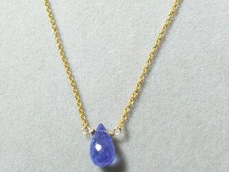 宝石質タンザナイトドロップネックレスの画像