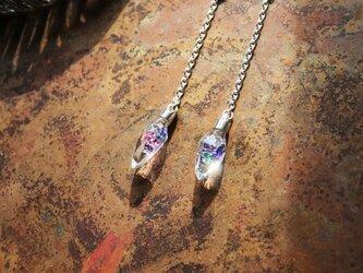 New Silver & Glass クリスタルカット・ロザリオネックレスの画像