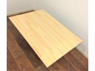 薄型こたつ天板 75x75cm クリアー塗装 天然木 交換用コタツ天板のみ 【オーダー可能】の画像