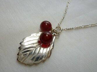 赤い実のネックレスの画像