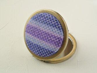 こぎん刺しミラー 紫陽花の画像