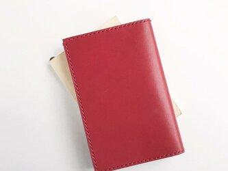 栃木レザーの文庫本カバー 赤の画像
