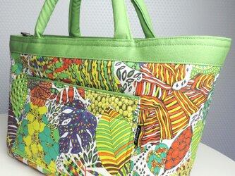 [販売済] Fornasetti Forest GREEN From60 x LIBERTY TOTE BAGの画像