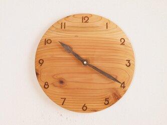 「maroさまご注文の品」掛け時計 丸 杉材の画像