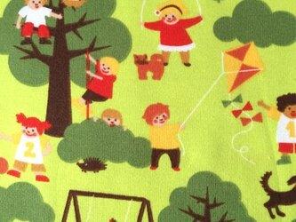 ドイツデザイン ジャージー生地カットクロス-Playtime 公園遊びの画像