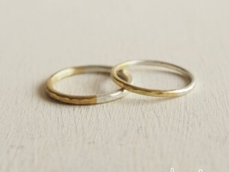 【受注制作】 Bi-colored Ring - 2mm幅 -の画像