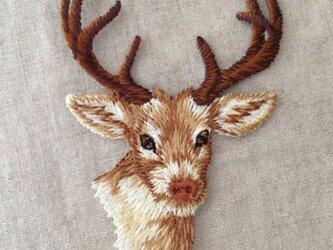 アップリケワッペン 鹿の頭 W-0272の画像
