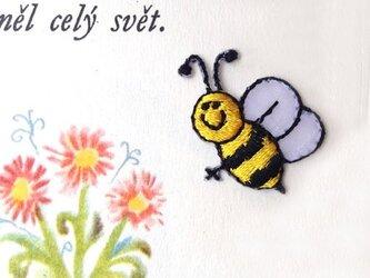 アップリケワッペン-ミツバチにこにこ2枚 562の画像