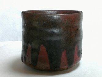 黒流れ 還元 抹茶茶碗の画像