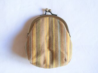 IM-5 がま口 楕円【黄ストライプ】の画像