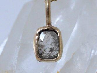 ローズカット・ダイヤモンド10kゴールドペンダントの画像