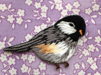 アップリケワッペン シジュウカラ 小鳥右向き W-0370の画像