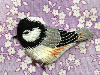 アップリケワッペン シジュウカラ 小鳥左向き W-0369の画像