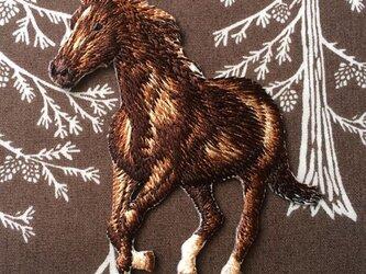 アップリケワッペン -リアル ホース 馬W-0814の画像