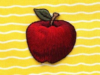 アップリケワッペン りんご刺繍 W-0067の画像