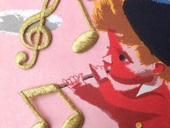 アップリケワッペンセット-ゴールド音符・八分音符・ト音記号789の画像