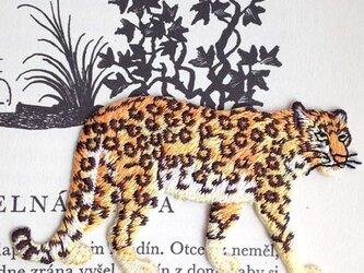 アップリケワッペン-リアル レオパード(豹) 528の画像