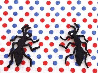 アップリケワッペン-アリさん2枚 W-0137の画像