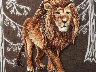 アップリケワッペン -リアル ライオン 813の画像