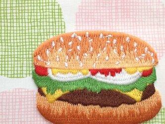 アップリケワッペン ハンバーガー W-0177の画像