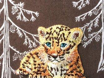 アップリケワッペン -ベビーパンサー 豹 822の画像
