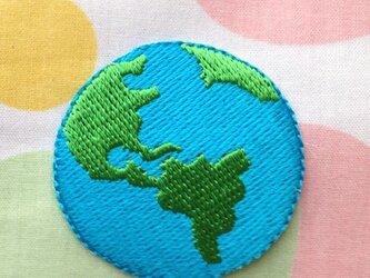 ップリケワッペン アース 地球2枚 W-0230の画像