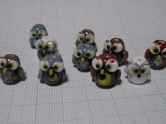 とんぼ玉 フクロウ サンプル用ページの画像