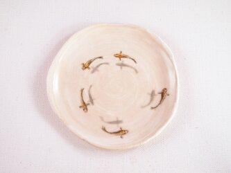 陶板画-メダカの群泳-絵付けによる風物画の画像