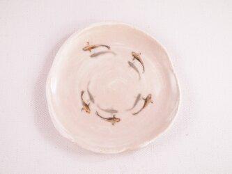 陶板画-メダカの群泳-下絵付けによる風物画の画像