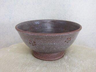 陶器ご飯茶碗(小)赤土・梅紋の画像