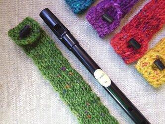 羊毛100% ティンホイッスルケース / Green(グリーン)の画像