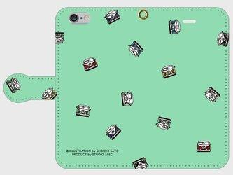 ワーゲンバス・イラスト・スマホケース(手帳型)iPhone&Android対応 10色バリエーションの画像