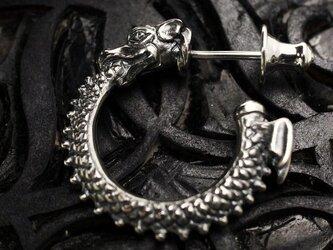 ウロボロス ピアス / シルバー 蛇(竜) ピアスの画像