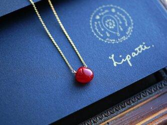 真紅のジェイドのマロンシェイプネックレス ~Loveの画像